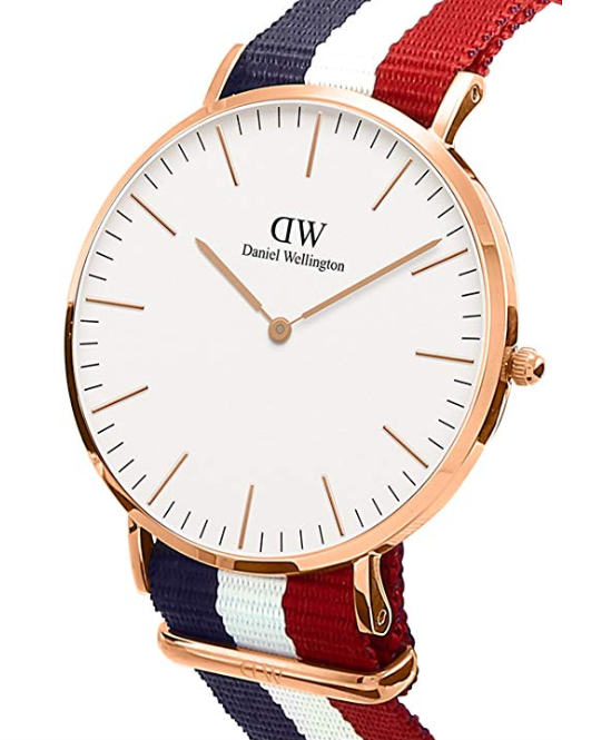 Montre Daniel Wellington cadran rose bracelet nylon