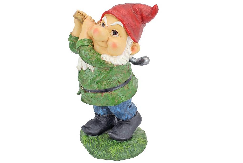 Nain de jardin golf gnome golfeur Design Toscano