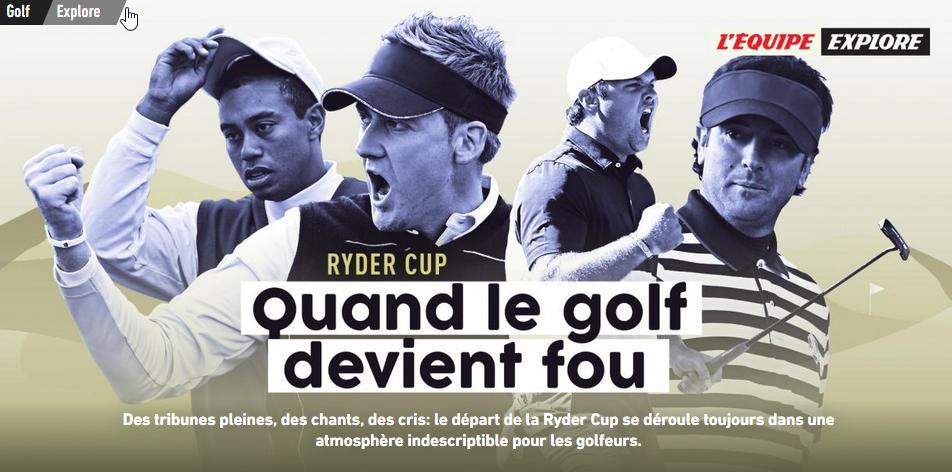 regarder la Ryder Cup en France 2018