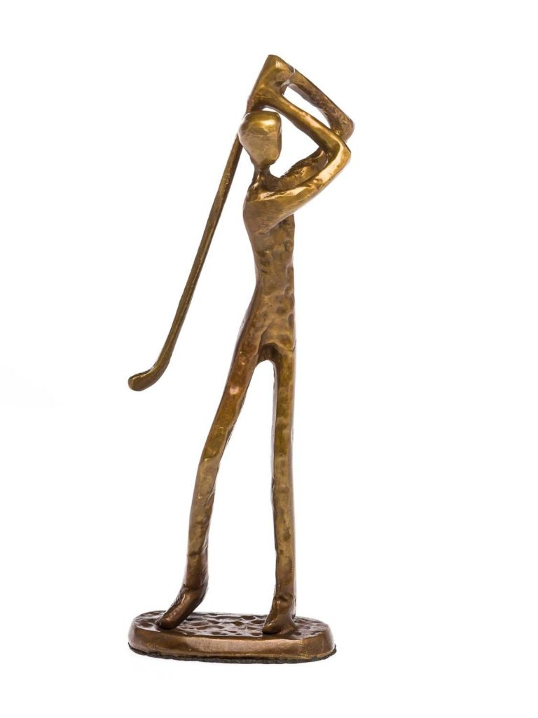 Statuette de Golfeur en Bronze Idée cadeau originale pour fan de golf
