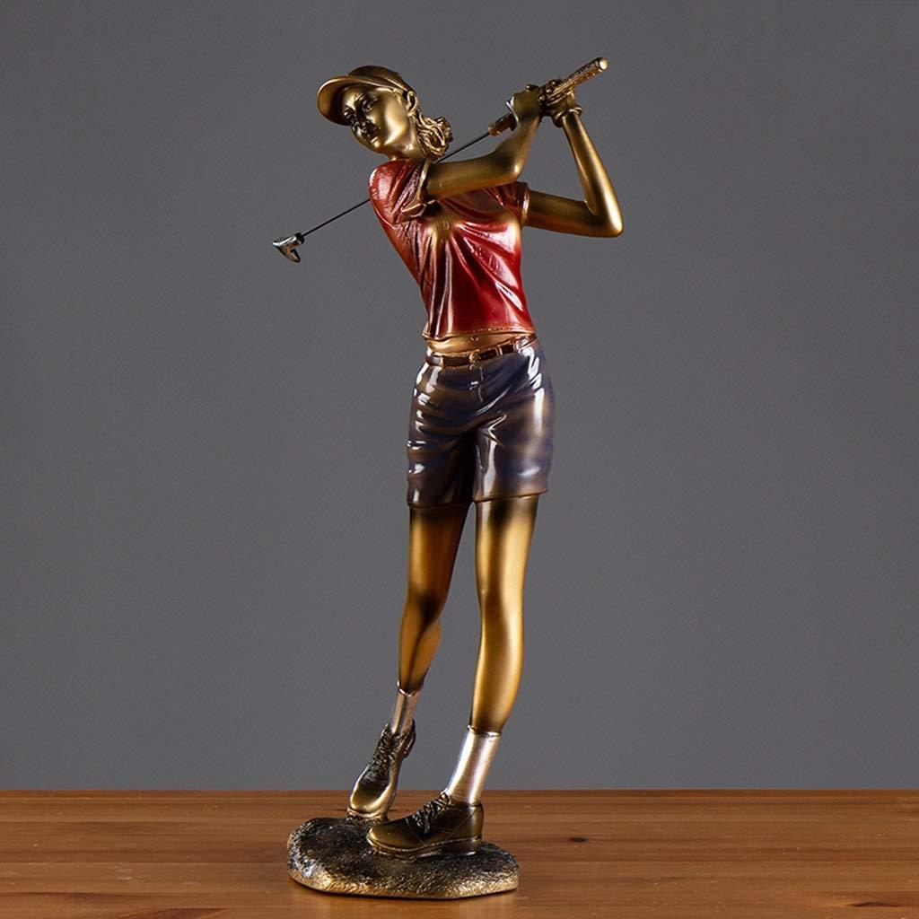 Sculpture golfeuse trophée décoration Idée Cadeau