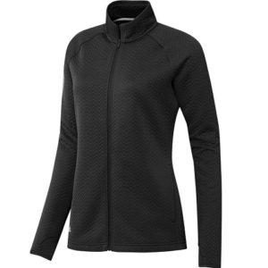 Pull de golf Adidas Femme zippé Noir