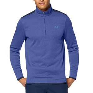 Pull de golf Homme Under Armour SweaterFleece Bleu