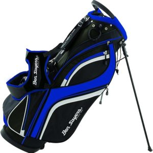 Sac de golf Ben Sayers DLX Sac avec Support Mixte Noir et Bleu