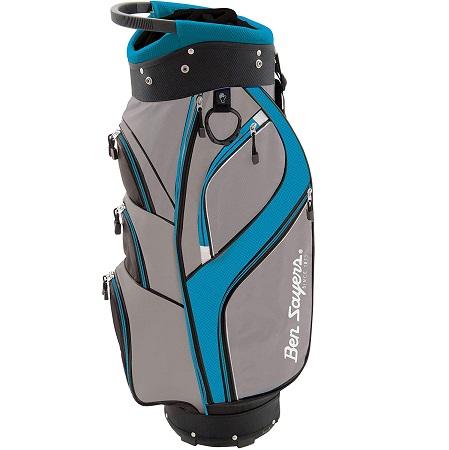 Sac de golf Ben Sayers DLX avec Support Mixte Gris Turquoise