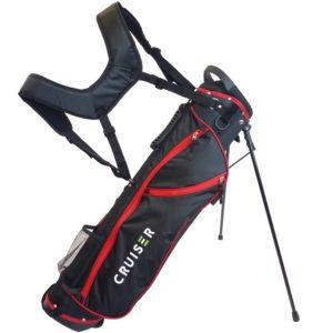 Sac de golf très léger Bullet Cruiser à trépied noir et rouge