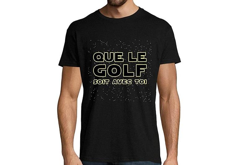 T-Shirt Que Le Golf Soit avec toi Idée cadeau golfeur